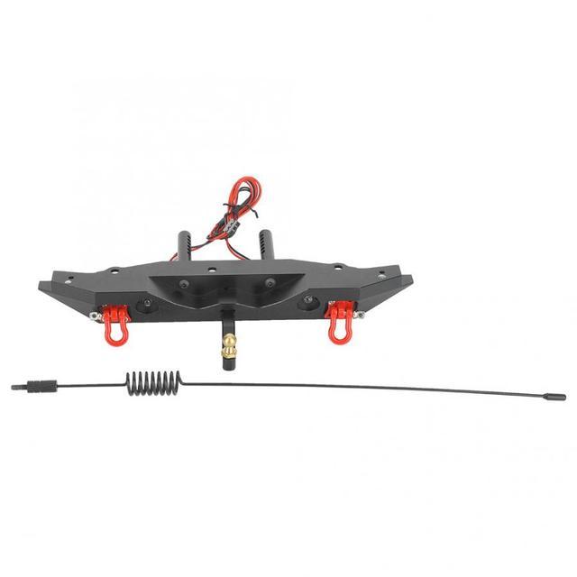 RC المصد الخلفي صالح ل Rc4wd المصد الخلفي RC سيارة جزء التبعي مع هوك مصباح ليد هوائي صالح ل محوري scx10