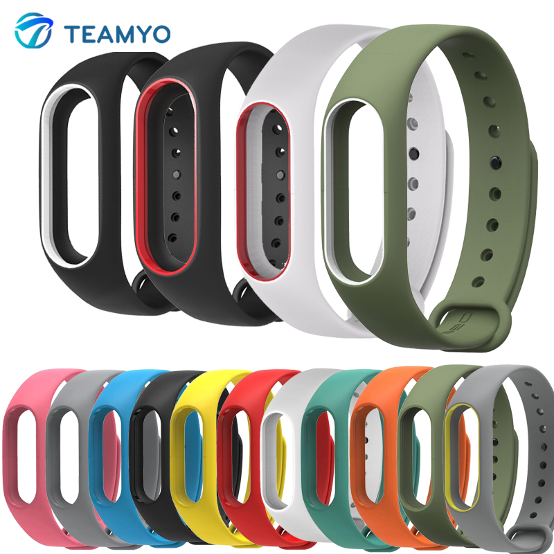 Silicone Xiaomi Mi Band 2 Bracelet Strap Miband 2 Colorful Strap Wristband Replacement Smart Band For Mi Band 2 Accessories