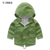 Vtree Children Jcaket Baby Boys Jacket Hoodies Cute Fish Print Coat Outwear For Boy Kids Spring