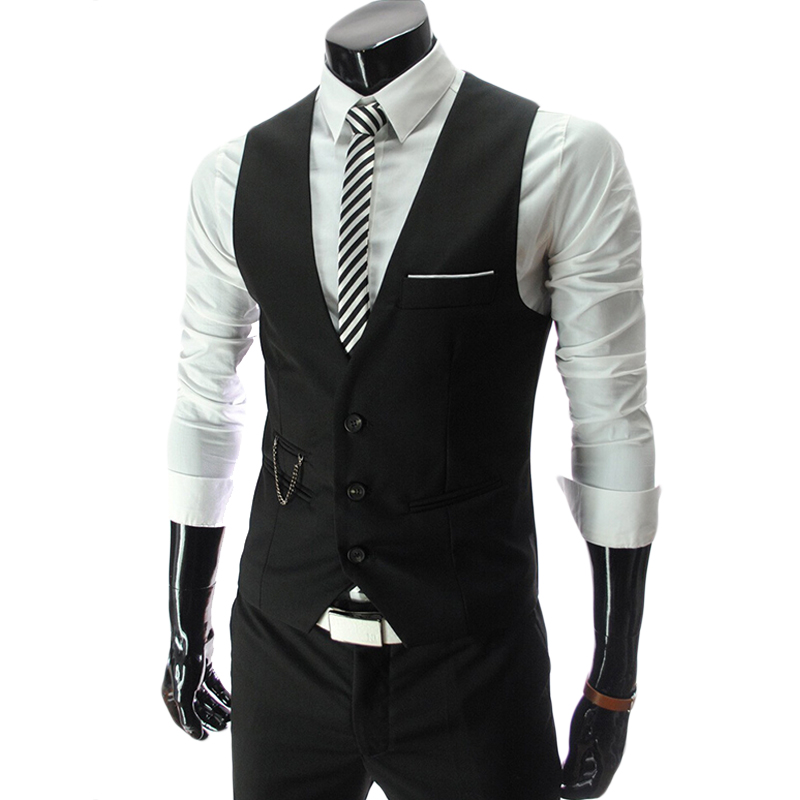 JOOBOX  Fashion Suit Vest Men Black Top Design Formal Dress Vest Brand Clothing Quality Fitness Sleeveless Jacket Waistcoat
