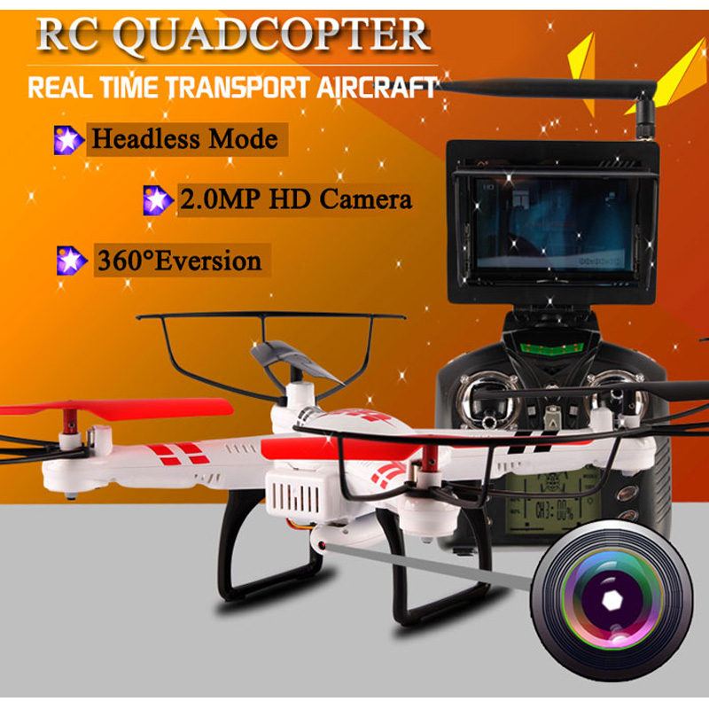 WLtoys V686G RC Drones 2.4G 4 CH Quadcopter with Camera Headless Mode Drone Dron 5.8G FPV Real Time Transmission Fly Helicopter wltoys v686 v686g fpv version 4ch professional drones quadcopter with hd camera rtf 2 4ghz real time transmission cf mode jjrc