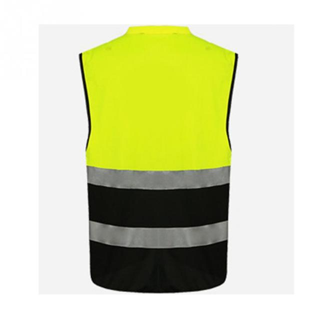 Professional Security Reflective Vest Pockets Design Reflective Vest High Visibility Safety Straps Outdoor Cycling Zip 3