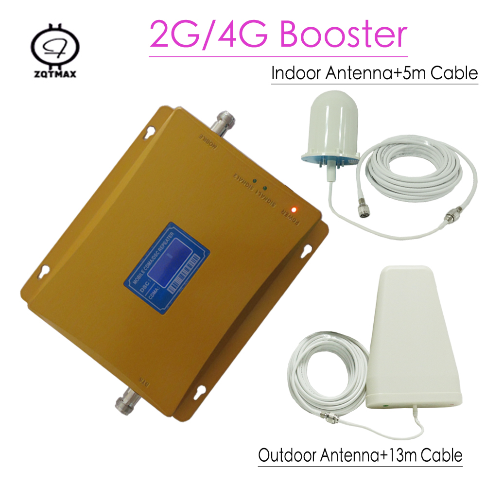 65dbi Dual Band Booster CDMA850 DCS 1800MHZ BOOSTER CDMA + DCS Repeater 4g LTE Booster , 1800mhz Repeater Amplifier