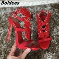 Usine Prix Femmes Stiletto Haut Talons Sandales Chaussures Feuille Noir Rouge Jaune Blanc Wedge Plaftorm Rome Style Dame Sexy Chaussures