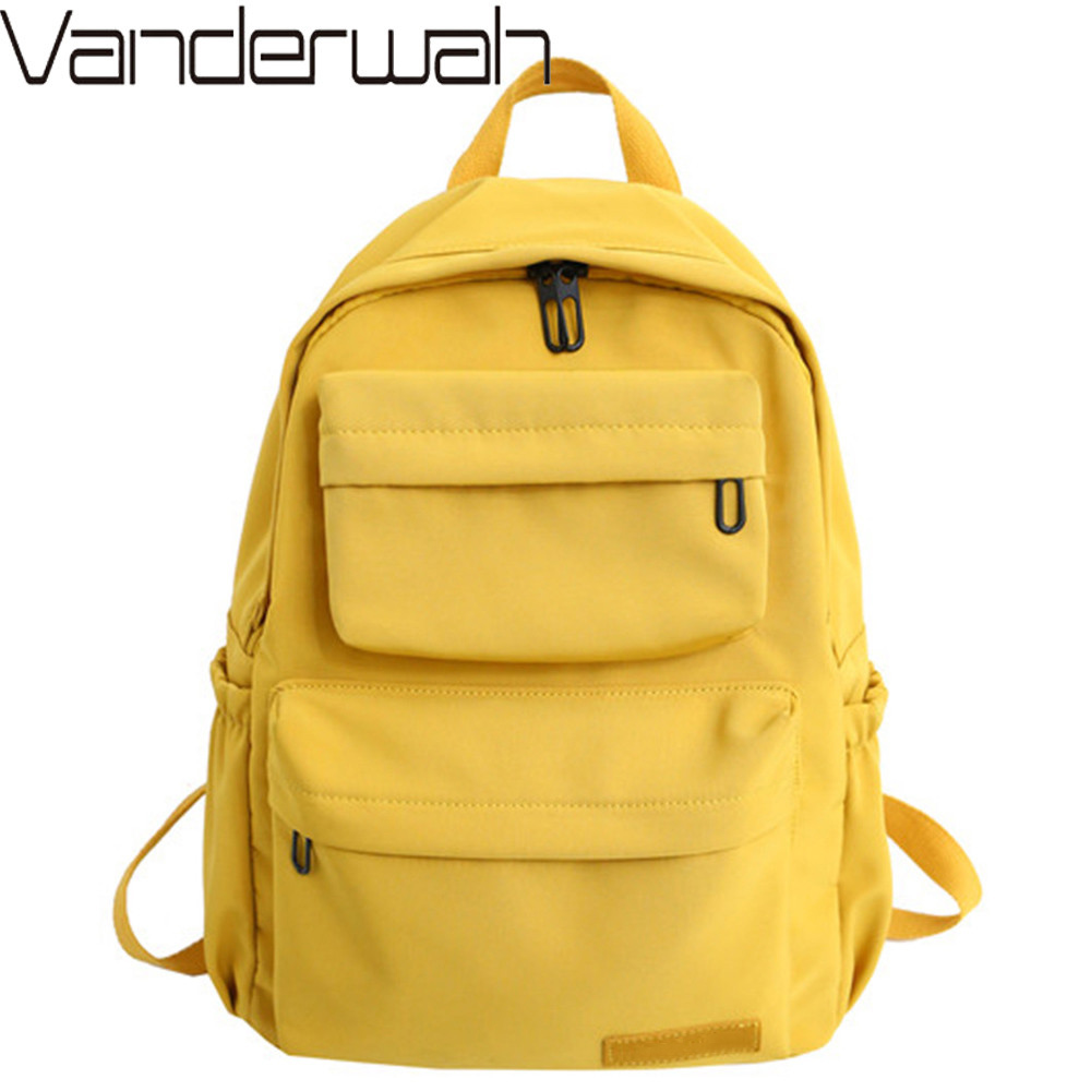 New Waterproof Nylon Backpack For Women Multi Pocket Casual Travel Backpack Female School Bag for Teenage Girls Rucksack Mochila(China)