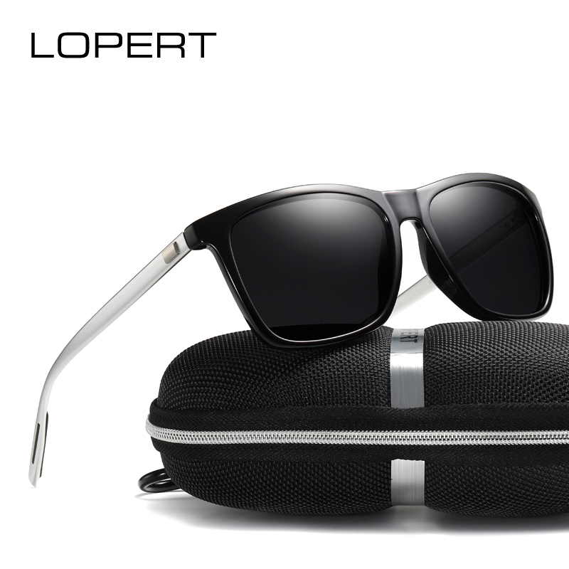 LOPERT Polarized AluminiumTR90 Solglasögon Män Brand Designer Designer Glasögon Mode Kvinnor Vintage Sun Glasses For Men UV400