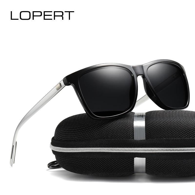 LOPERT Polarized AluminumTR90 Sunglasses Men Brand Designer Fashion Women Vintage Eyewear Sports Driving Sun Glasses For