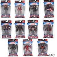 Marvel vingadores homem de ferro pantera hawkeye capitão américa viúva negra pvc figura ação collectible modelo brinquedos 17cm kt3351
