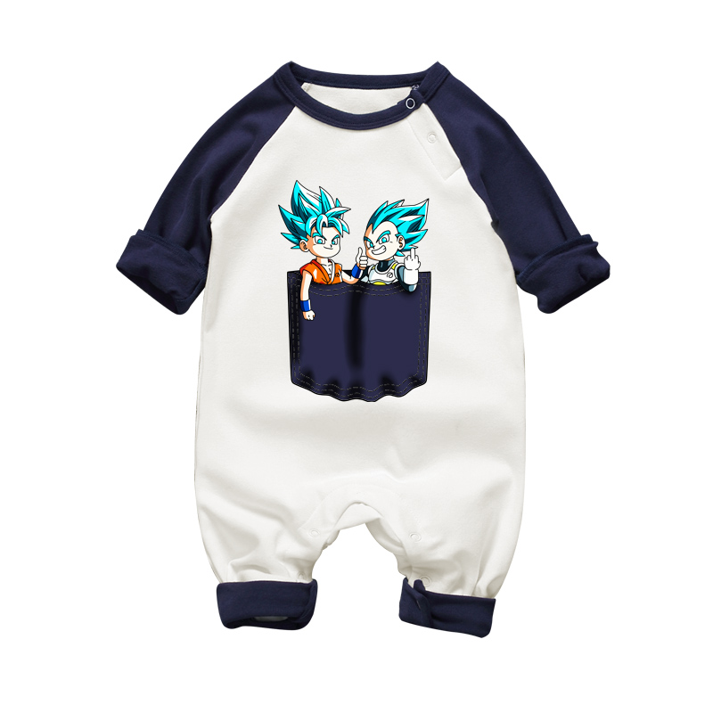 Newborn Baby Clothes Warm Baby Rompers Long Sleeve Baby Boy Dragon Ball Clothing Autumn Winter Infant Boys Jumpsuit Costume