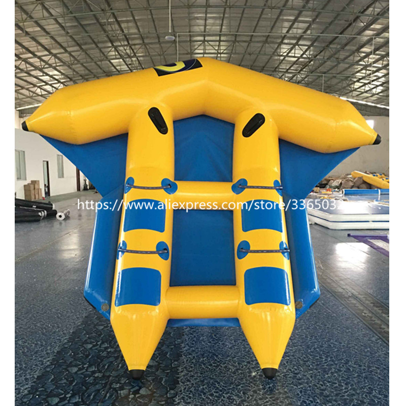 Hot sale flying fish inflatable water raft/banana boat/flying towables for water sports free shipping 3 3 1 2m water banana boat for sport games