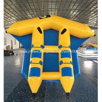 inflatable flying fish water sports equipment for 6 players flying fish towable inflatable flying banana boat tube Serviceable inflatable flying fish banana boat Inflatable flying fish tube towable for sale