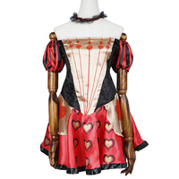 Adult Sexy Classic Red Queen of Heart Costume Cosplay Fancy Dress Clothing Outfits Skirt for Party Halloween Carnival