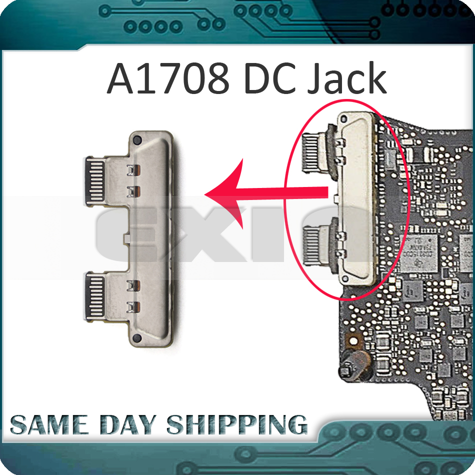 "New For Apple Macbook Pro Retina 13"" A1708 Type-C USB-C Charging DC-IN DC Power Jack Board Connector 2016 2017 MLL42 MPXQ2"