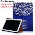 Для Lenovo Tab 2 A10-70F/L Tablet Cover 10.1 с Красочной Росписью стенд Откидная крышка Для Lenovo tab2 a10-70 A10-30 X30F tablet PC
