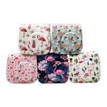 Flamingo Schutzhülle für Fujifilm Instax Mini 9 8 + 8 Instant Film Kamera, weiche PU Leder Tasche mit Abnehmbaren Schulter Gurt