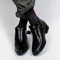 DOF Bull botas de cuero para hombre primavera Otoño e Invierno zapatos de hombre Botas de tobillo zapatos de nieve para hombre talla grande 39-46 000-008