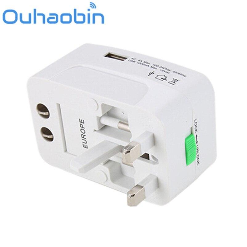 Ouhaobin USB Universal Multi-function Conversion Socket World Travel Plug Adapter Gift Oct 18 Dropship