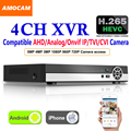 Обновление 4CH 5MP H.265 супер CCTV XVR AHD NVR DVR цифровой видеорегистратор для AHD CVI TVI аналоговая IP камера видеонаблюдения