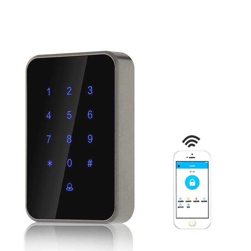 Длинные Rnage Управление Bluetooth, Wi-Fi цифровой замок доступа Управление чтения электронных умный дверной замок Стекло безопасный замок на дверь ...