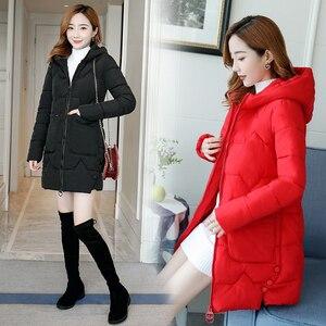 Image 4 - Parka chaud pour femme, manteaux femme, à capuche, en coton chaud, rembourré, ample, nouvelle collection dhiver 2020, 3XL