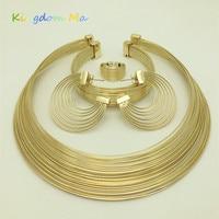 2015 NEWS Q P Nigerian Bridal Jewelry Set 18 K Gold Plated Wedding Set Fashion Classic