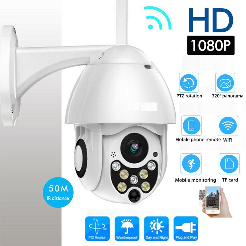 New Outdoor Waterproof Wireless WIFI Security IP Camera 1080P Speed Dome CCTV Surveillance Cam with Seven Night Vision LightsNew Outdoor Waterproof Wireless WIFI Security IP Camera 1080P Speed Dome CCTV Surveillance Cam with Seven Night Vision Lights