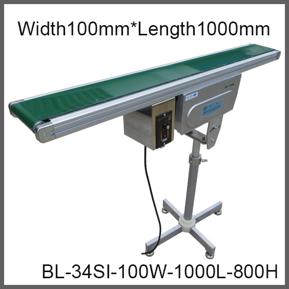 High Quality Adjustable Belt Conveyor with Single Foot, Factory Supply 100mm Wide* 1000mm Long Compact Conveyor with Variable