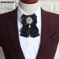 ROKEDISS 높은 엔드 영국 나비 넥타이 남성 여성 정장 꽃 신랑 신랑 led bowknot 한국어 나비 넥타이 꽃 Z294
