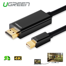 Ugreen Mini DP Видеоадаптер Конвертер для HDMI Кабеля Мужчина к Мужчине Thunderbolt Displayport для Macbook Pro Воздуха 4 К * 2 К