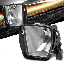 2 Pcs White Bumper Fog Light Driving Lamp Clear Lens Front Switch Replacement For 13-18 Ram 1500