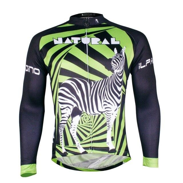 2016 new men s long sleeve green cycling jersey zebra mountain bike jersey  blue cycle clothing jerseys yellow cycling wear de087b769