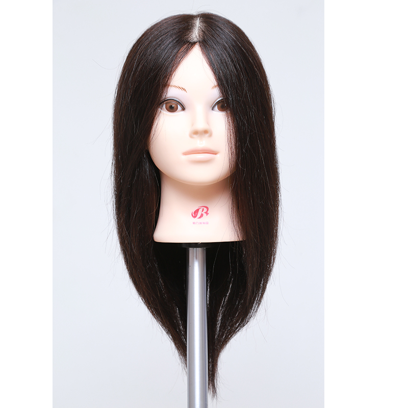 100%Real Hair Mannequin Head With Hair Female Human Hair Training Maniqui Head For Hairdresser Hairdressing Doll Manikin Head
