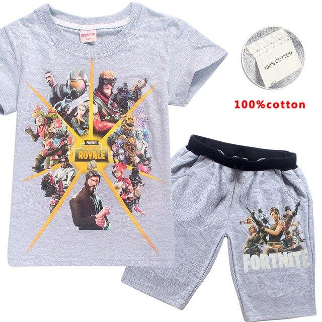 Sommer Kurz Hulse Baumwolle Kinder T Shirt Fortnite Hosen Fortnite
