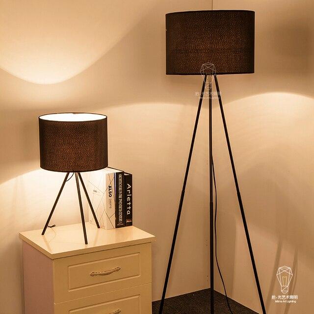 Modernen Minimalistischen Tuch Abdecken Lesen Tisch Schreibtisch Lampe Eisen Drei Feet Boden Beleuchtung Wohnzimmer Schlafzimmer Nachttischlampen