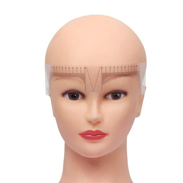 1PC Reusable Semi Permanent Eyebrow Ruler Eye Brow Measure Tool Eyebrow Guide Ruler Microblading Calliper Stencil Makeup 5