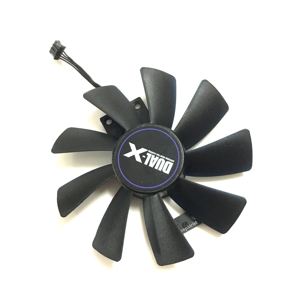 GA8202U/GAA8B2U 100mm 0.45A 4Pin Graphics Card cooling Fan VGA Cooler Fans For Sapphire R9 380 Video Card 2pcs computer vga gpu cooler fans dual rx580 graphics card fan for asus dual rx580 4g 8g asic bitcoin miner video cards cooling