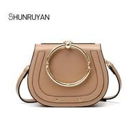 9fe61a881 SHUNRUYAN 2019 Brand Design New Fashion Ladies Casual Saddle Bag Women For  Bag Shoulder Bag Metal