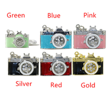 Металл Камеры USB Flash Drive Мини Флешки 128 Г Розовый 32 Г Синий 8 Г Подарок Высокое Качество U Диск Моды Ручка Привода Бесплатная Доставка
