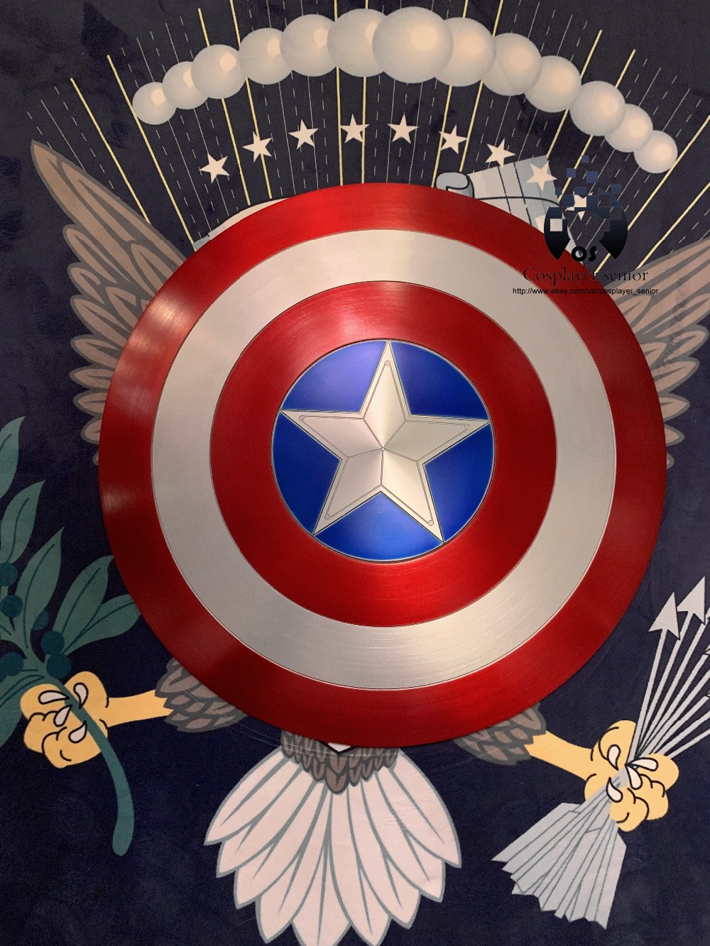 NEW 60CM Captain America Shield 1 1 Steve Rogers Aluminum Metal Shield movie cosplay Halloween gift