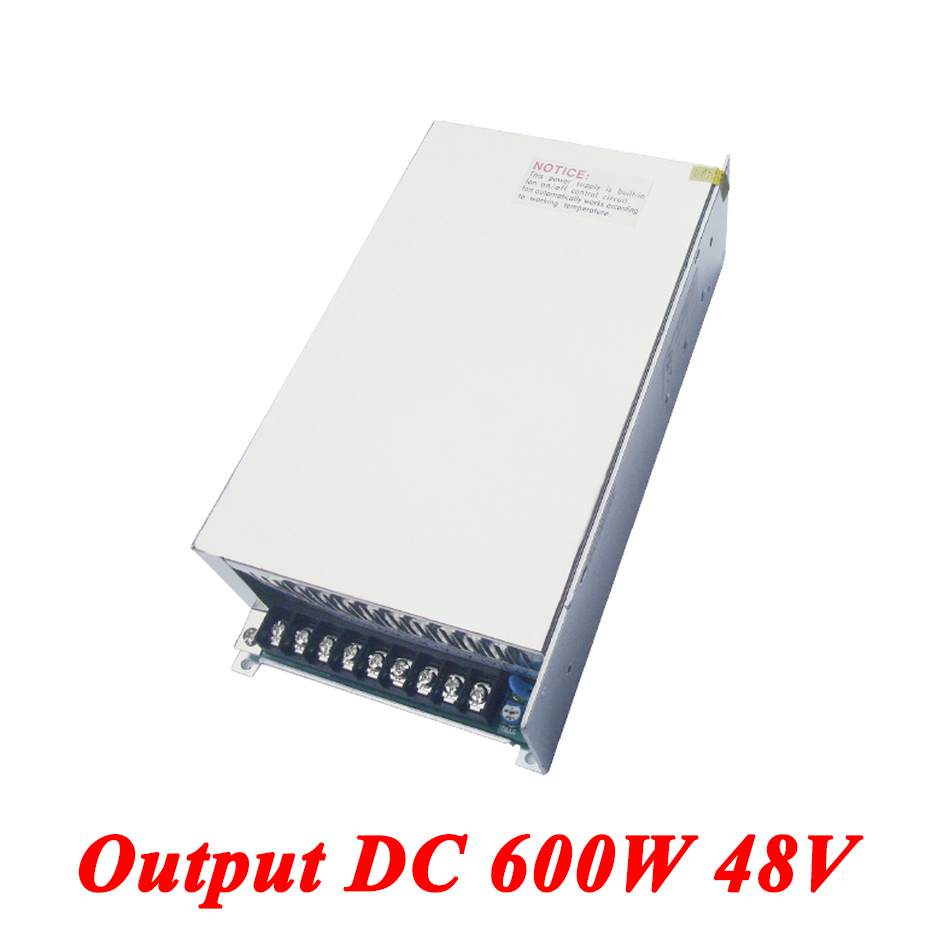 S-600-48 switching power supply 600W 48v 12.5A,Single Output watt power supply for Led Strip,AC110V/220V Transformer to DC 48V