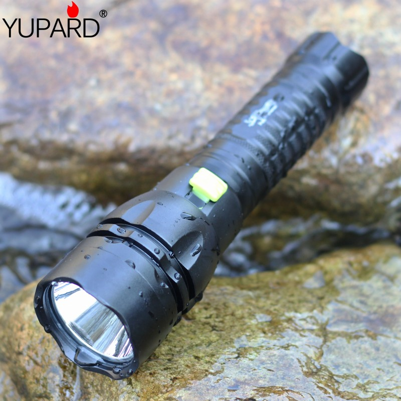 YUPARD  Q5 LED  Diving diver bright Flashlight torch Waterproof underwater one mode 1x18650 rechargeable battery camping