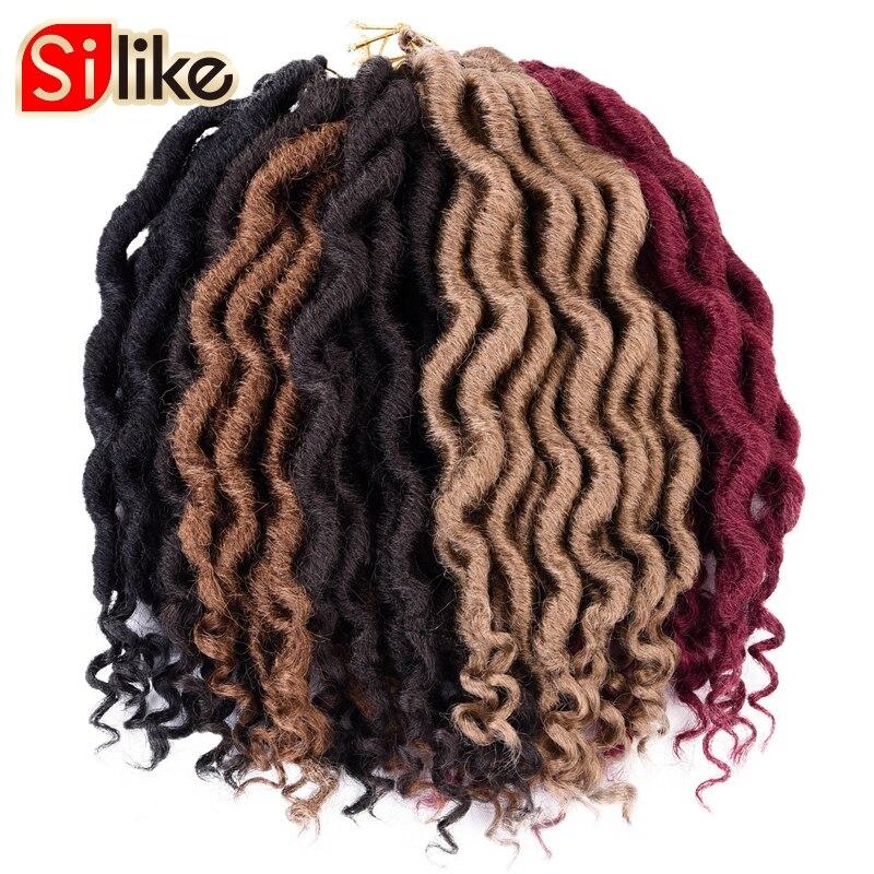 Silike 12 Twist Goddess Faux Locs Curly Crochet Braids Onetime