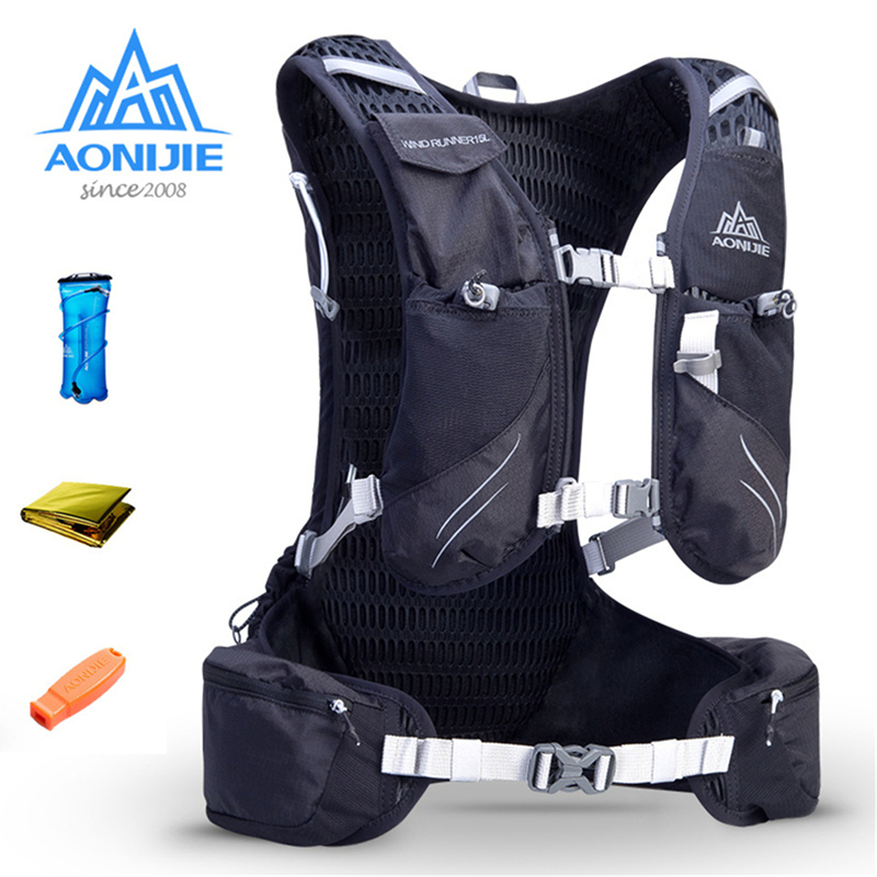 AONIJIE 15L Running Hydration Backpack Vest Pack with 1*3L Hydration Bladder Adjustable Padded Shoulder Chest & Waist Straps