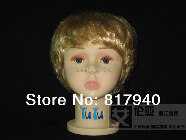 New Arrival!High quality Unbreakable Realistic Plastic baby/kid mannequin dummy head for hat display manikin heads