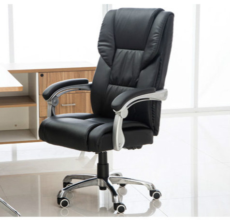 Comfortable household office computer chair lying boss chair capable of lifting rotating chair (Without pedal)