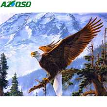 AZQSD Diamond Embroidery Eagle Animal Diy Needlework Painting Full Square Home Decoration Picture Of Rhinestones