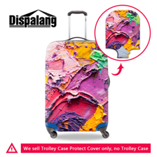 -2 3D Fruit Print Waterproof Spandex Travel Luggage Cover for 18-30 inch Trolley Suitcase Elastic Anti-dust Clear Cover with Zipper