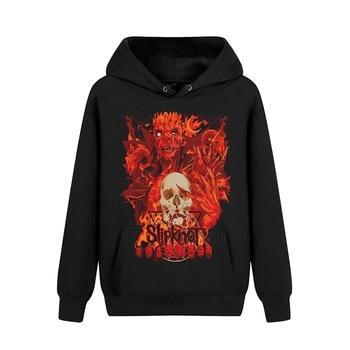6 designs pollover slipknot Cotton Rock Hoodies Winter Shell jacket hardrock Death Punk Metal Sweatshirt Black fleece sudadera
