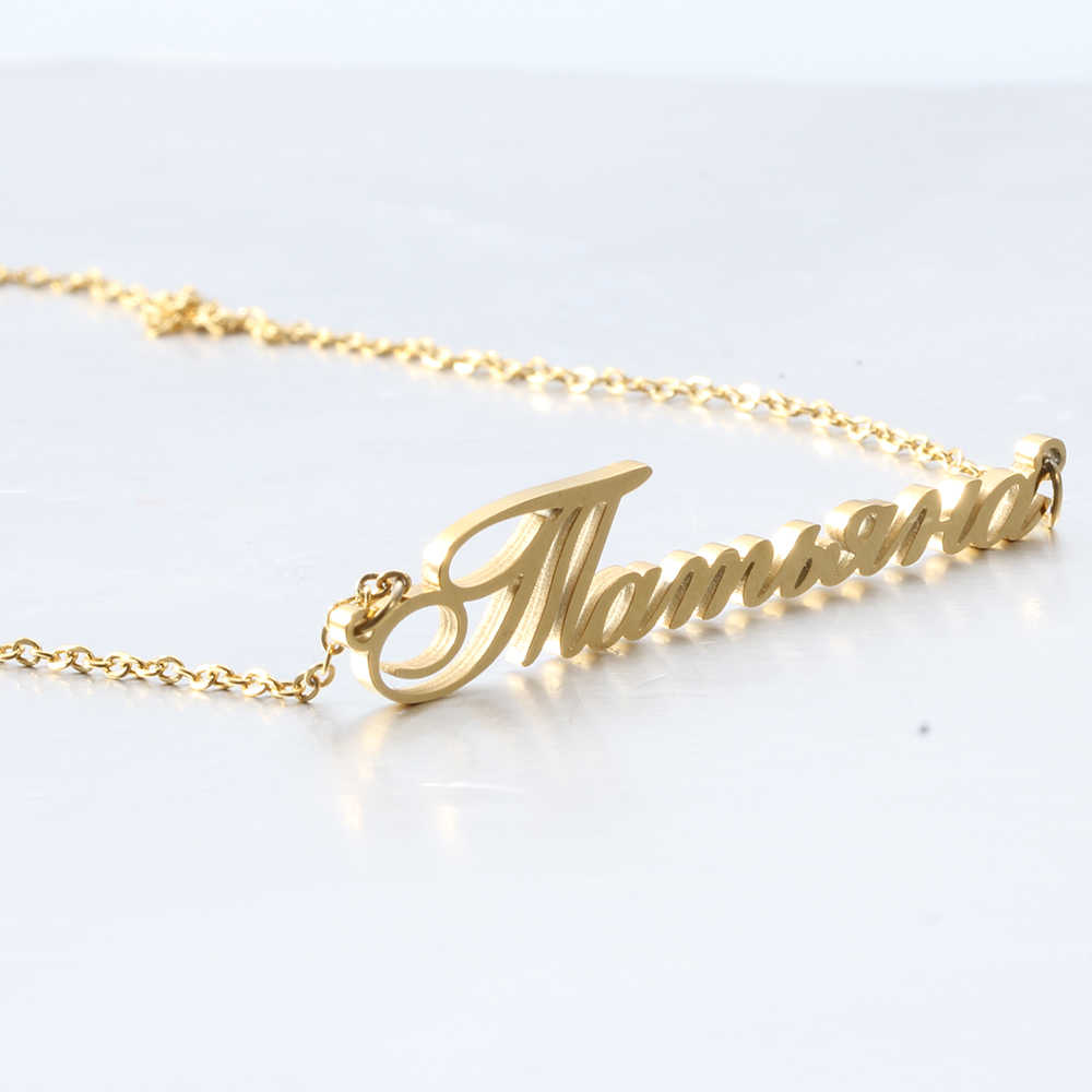 Fashion Women Jewelry Name Necklace Pendant New High Quality Stainless Steel Personal Gift Necklaces For Woman Accessories