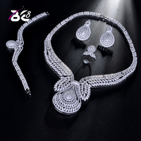Be 8 Hotsale African 4pcs Bridal Jewelry Sets New Fashion Dubai Jewelry Set for Women Wedding Party Accessories Design S188